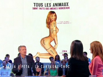 Zahia s'explique sur son poster pour la cause animale
